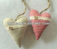 Christmas tree ornament(handicraft fabric heart decoration)