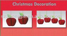 Christmas decoration, paper apple, tissue hanging decortion