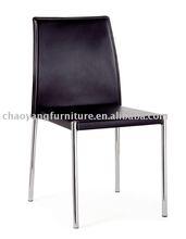 Foshan Modern Black Dining Chair With PVC(CY8803)