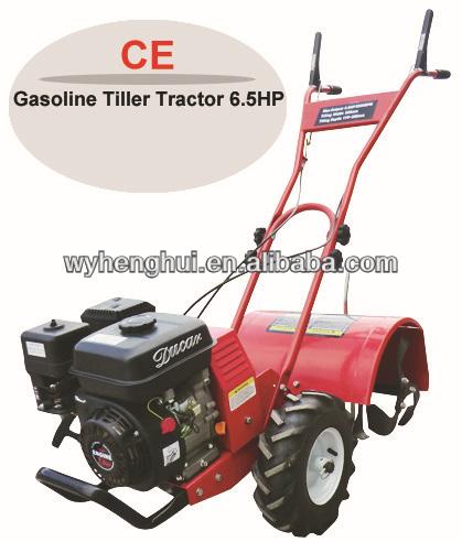 Nuevo! 6.5hp motocultor gasolina timón cultivador rotavator( turbina de transmisión)