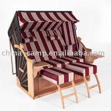 wicker roofed beach chair