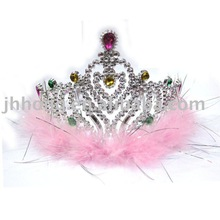 pink Plastic Fairy Blinking Metallic girls plastic Tiara crown