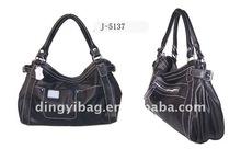 Black PVC womens top grade big casual handbag suit India market