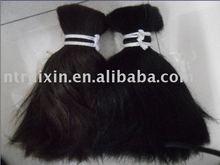 Factory supplier large quantity Burman/Myanmar double drawn human hair material