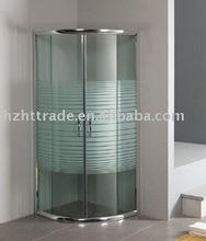 frame strip design half transparant shower enclosure