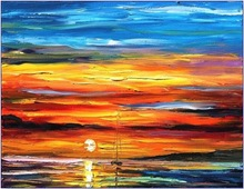 1 panel piece large canvas wall art sets Landscape Knife Oil Painting