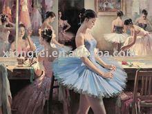 dancing girl ballet art painting
