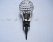 Unique golf ball shape crystal wine stopper, bottle stopper
