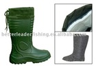 EVA rain boot with removable lining