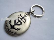 travel Keychain, die casting metal keyring