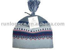 children jacquad pom pom beanie hats wholesale