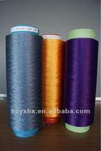 100% polyeser POY DOPE DYED YARN 450D/144F