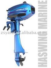 Haswing 2-stroke, gasoline motor, fishing motor, quiet motor, marine motor, 3.5HP, marine engine