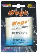3R12 4.5V carbon zinc battery
