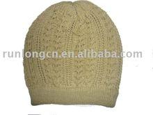 100% acrylic crochet beaine hat