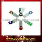 Custom 2GB Colorful Swivel usb,Metal usb flash drive