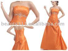 orange laced up evening dress, prom dressEUAH0134