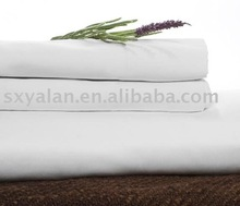 100% cotton white sateen bed sheet for hotels