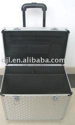 Aluminium pilot trolley case,aluminum business travel trolley case,trolley laptop case