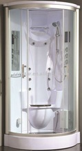 bathroom shower with wood seat(9016)