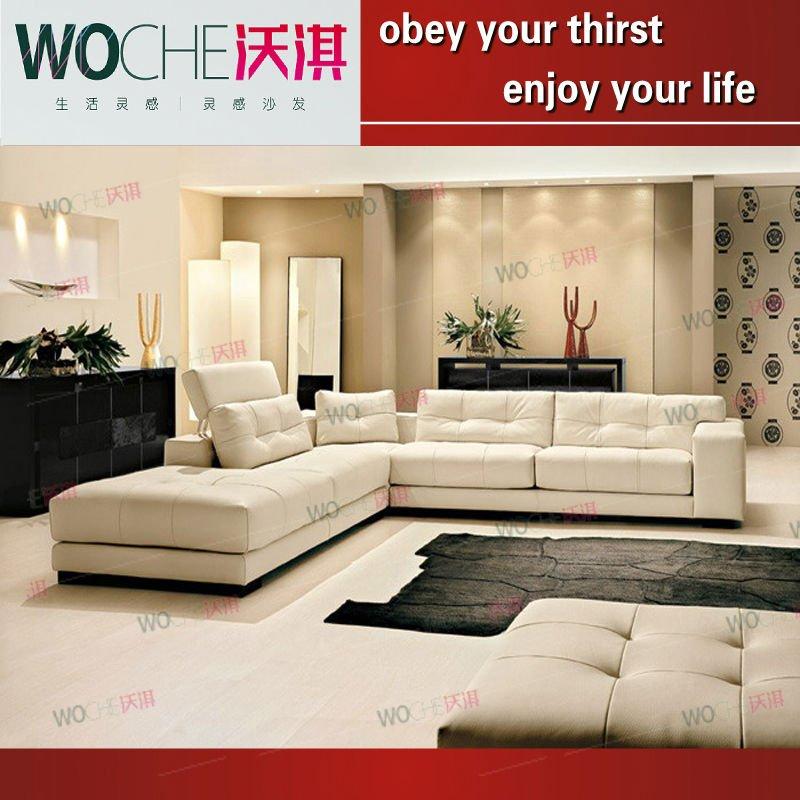 modern leather living room furniture on Room Furniture Leather Sofa Wq6813  Sales  Buy 2011 Modern Living Room