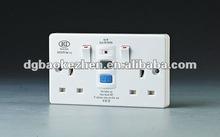 0230SPW RCD wall switch & socket