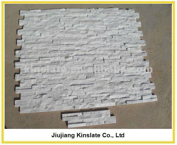 Steinwand Quarzit Weiß : 0507SW) Wand-Dekoration-weißer natürlicher ...
