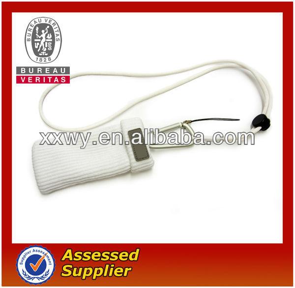 sock mobile phone holder with PVC logo