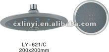 plastic round thin tickness overhead shower head(LY-621)