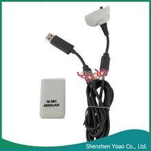 Rechargeable Battery Pack For Xbox360(4800mAh Charger Cable)