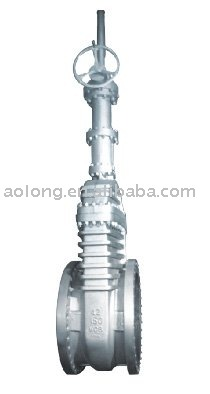 ANSI carbon steel gate valve,gear operated ,rising stem