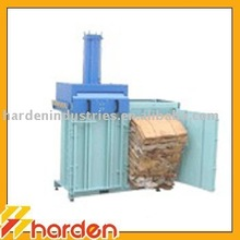 Two Chamber Vertical Baler for Cardboard Recycling Compactor Bags