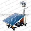 Móvil torre de iluminación solar/generador solar