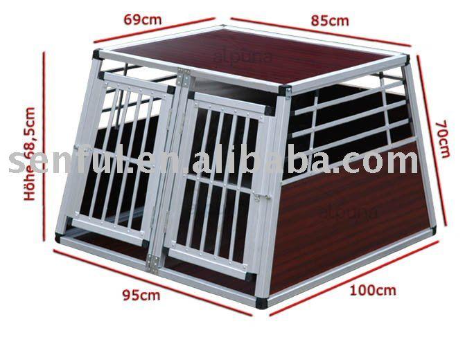 Aluminiumkasten-Aluminiumrahmen Hunde Kasten-Hundehundehütte