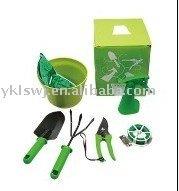 7pcs Garden Hand Tool set with Flower Pot and Garden Sprayer,Lady Garden Tools