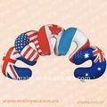 Moda inglaterra bandeira forma de U Neck almofadas