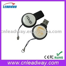 Round Key Drive USB Stiick With Custom Logo Print Bulk Cheap For Promotional Gift