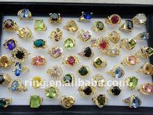 Gold Plated imitate zircon&rhinestone rings