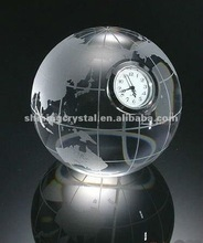 Hot selling globe crystal table clock