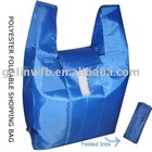 210T Polyester foldable shopping bag High quality(POL-003)