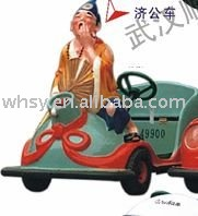 Chinese mythical figure the mad monk type amusement equipment kiddie rides on toy battery operated car