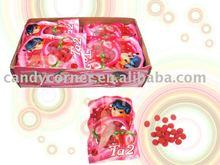 strawberry ball hard candy