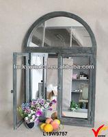 antique wooden decoration designer window frame mirror