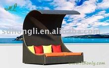 rattan outdoor bed