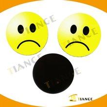 Unhappy Faced Round PVC Fridge Magnet