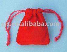 high quality red velvet drawstring bag used in gift packaging,jewelry packaging