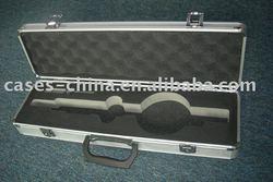 aluminum equipment storage case with foam cutting insert