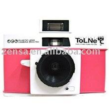 Takara Pink White 135 Plastic Film Camera Tolne 35mm Camera Tomy