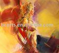 Heißen sex mädchen Fotos bild, hübsche blonde topless Körper- bemalt abstrakte kunst malerei großhandel