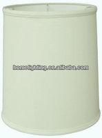 Drum lampshade tall homespun fabric SH-1517